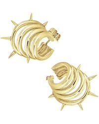 Ecrannium - The Gold Punk Dragon Earrings - Lyst