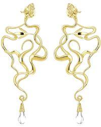 Ecrannium - The Golden Dragon Tree Earrings - Lyst