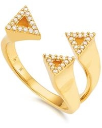 Kasané | Yellow Three Tri Frosted Ring | Lyst