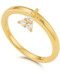 Kasané - Yellow Three Stone Charm Ring - Lyst