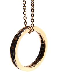 Puck Wanderlust - Tigers Eye Gold Eternity Ring Necklace - Lyst