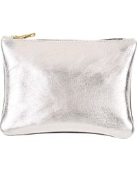 Sarah Baily - Dont Question Me Micro Clutch Silver & Black - Lyst