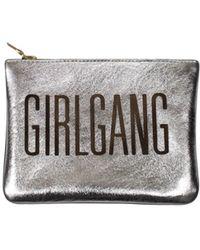 Sarah Baily - Girlgang Micro Clutch Gold & Black - Lyst