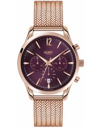 Henry London | Ladies 39mm Hampstead Chronograph Stainless Steel Bracelet Watch | Lyst