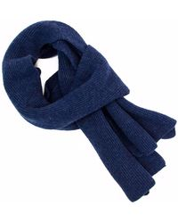 40 Colori - Blue Solid Wool & Cashmere Scarf - Lyst