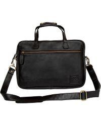 MAHI - Compact Leather Laptop Satchel Bag In Black - Lyst