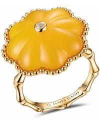 JAMES GANH - Pendant Ring Yellow - Lyst