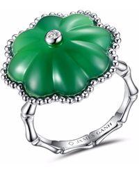JAMES GANH - Pendant Ring Green - Lyst