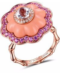 JAMES GANH - Ring Pendant Coral - Lyst