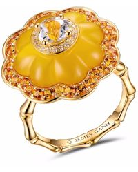 JAMES GANH - Ring Pendant Yellow - Lyst