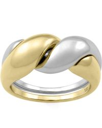 MONARC JEWELLERY - The Two-tone Puzzle Ring 9ct Gold And Sterling Silver - Lyst