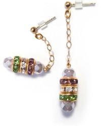 Amundsen Jewellery - Light Purple & Crystal Earrings - Lyst