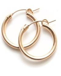 Amundsen Jewellery - Gold Filled Hoops - Lyst
