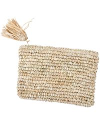 Soi 55 Lifestyle - Melati Raffia Clutch Bag With Tassel - Lyst
