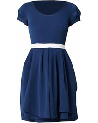 Philosofée - Stretch Gabardine Tailor Dress Navy Blue - Lyst