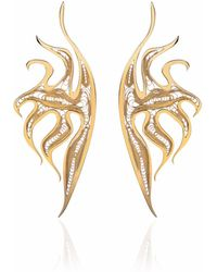 Nooneh London - Atlantis Statement Earrings Gold - Lyst