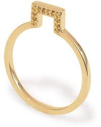 S/H KOH - Discreet Diamond Square Ring Positive - Lyst