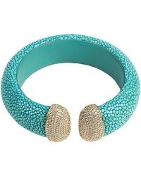LÁTELITA London - Stingray Cuff Gold Turquoise White Cz - Lyst