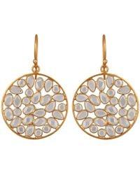 Carousel Jewels - Sliced Crystal Drop Earrings - Lyst