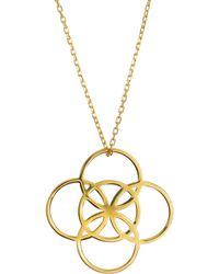 Liwu Jewellery - Serenity Gold Necklace - Lyst