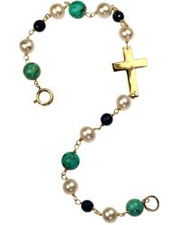 Xanthe Marina - Turquoise Lapis Lazuli Cross Bracelet - Lyst