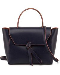Alexandra De Curtis - Mini Satchel Navy - Lyst