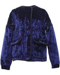 TOMCSANYI - Rozsi Quilted Velvet Zip-up Jacket - Lyst