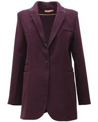 TOMCSANYI - Klari Oversized Jacket Burgundy - Lyst