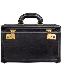 Maxwell Scott Bags - Luxury Italian Leather Women's Vanity Case Bellino Night Black - Lyst