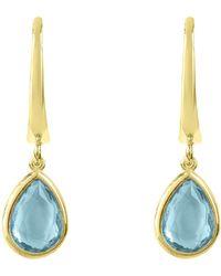 LÁTELITA London - Pisa Mini Teardrop Earring Gold Blue Topaz - Lyst