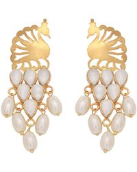 Carousel Jewels - Peacock & Pearls Earrings - Lyst