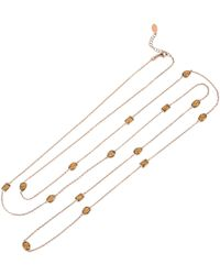 LÁTELITA London - Venice 120cm Long Chain Necklace Rosegold Smokey Quartz - Lyst