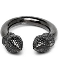 Durrah Jewelry - Graphite Cylinder Ring - Lyst