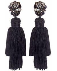 Wafa By Wafa - Black Gaia Earrings - Lyst