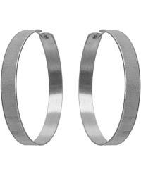 Dutch Basics - Large Creole Earrings - Lyst