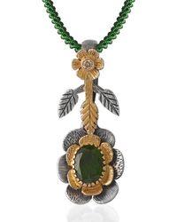 Emma Chapman Jewels - Lily Tsavorite Diamond Pendant - Lyst