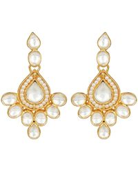 Carousel Jewels - Elegant Crystal & Pearl Drop Earrings - Lyst