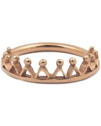 Annabelle Lucilla Jewellery - Dainty Stella Crown Ring Rose Gold - Lyst