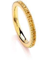 Dione London - Nyx Citrine Eternity Ring - Lyst
