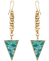 Tiana Jewel - Tara Drop Turquoise Earrings Muret Collection - Lyst