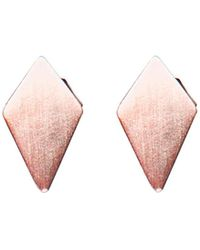 Dutch Basics - Ruit Stud Earrings - Lyst