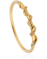 Lee Renee - Tiny Snake Ring Diamonds & Gold Vermeil - Lyst