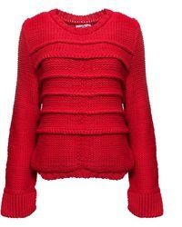 Yakshi Malhotra - Crocheted Chunky Jumper Red - Lyst