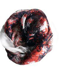 Yakshi Malhotra - Silk Scarf: White Floral Iii - Lyst