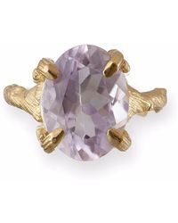 Chupi - Beauty In The Wild Ring In Amethyst & Gold - Lyst