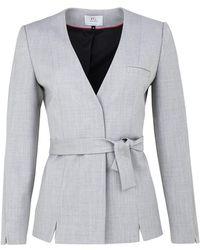 FG Atelier - Grey Stretch Wool Suit - Lyst