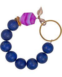 Magpie Rose - Lapis Lazuli & Rose Quartz Vermeil Bracelet - Lyst