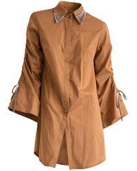 CONSTANTINE/RENAKOSSY - Ochre Trumpet Sleeve Shirt - Lyst
