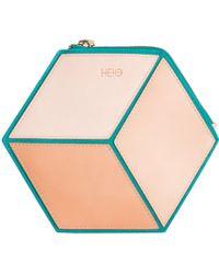 HEIO - The Cube Turqueta Small Clutch - Lyst