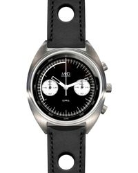 MHD Watches - Mhd Cr1 Reverse Panda Dial Chronograph Watch With Black Strap - Lyst